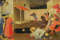 Fra Angelico - The Martyrdom of St. Mark, predella from the Linaiuoli Triptych, 1433