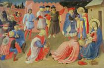 Fra Angelico - Adoration of the Magi, predella panel from the Linaiuoli Triptych, 1433