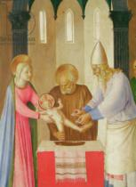 Fra Angelico - Scenes from the Life of Christ, 1st panel, the Circumcision , c.1451-53