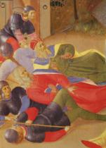 Fra Angelico - Detail of Scenes of the Life of Christ, 2nd panel depicting the betrayal of Judas , 1450-3