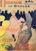 Henri de Toulouse-Lautrec - Poster advertising 'La Goulue' at the Moulin Rouge, 1891