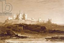 Joseph Mallord William Turner - F.14.I Dunstanborough Castle, from the 'Liber Studiorum', engraved by Charles Turner, 1808