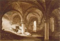 Joseph Mallord William Turner - F.39.I The Crypt of Kirkstall Abbey, from the 'Liber Studiorum', 1812