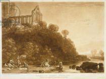 Joseph Mallord William Turner - F.56.II Dumblain Abbey, from the 'Liber Studiorum', engraved by Thomas Lupton, 1816