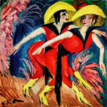 Ernst-Ludwig Kirchner - Dancers in Red, 1914