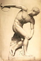 Evelyn de Morgan - Discus thrower, drawing of a classical sculpture, c.1874