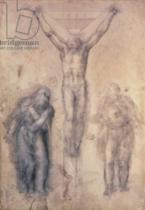 Michelangelo Buonarroti - Inv.1895-9-15-509 Recto W.81 Study for a Crucifixion