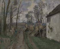 Paul Cézanne - A Village Road near Auvers, 1872-73