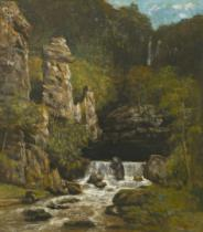 Gustave Courbet - Landscape with a Waterfall, c.1865