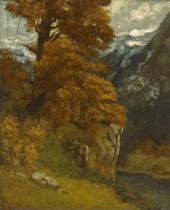 Gustave Courbet - The Glen at Ornans, 1866