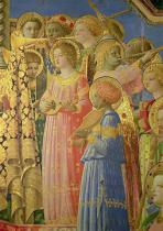 Fra Angelico - The Coronation of the Virgin, detail showing musical angels, c.1430-32  (detail of 60319)