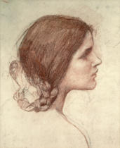 John William Waterhouse - Head of a Girl