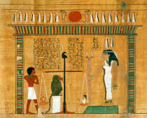 Egyptian School - The Weighing of the Heart, detail from a page of the Book of the Dead