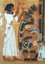 Egyptian 19th Dynasty - The Fumigation of Osiris, page from the Book of the Dead of Neb-Qued, Egyptian, New Kingdom