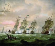 Thomas Luny - Admiral Sir Edward Hawke defeating Admiral M. de Conflans in the Bay of Biscay