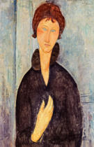 Amedeo Modigliani - Woman with Blue Eyes, c.1918