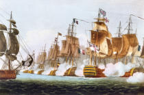 Thomas Whitcombe - The Battle of Trafalgar, 21st October 1805, engraved by Thomas Sutherland for J. Jenkins's 'Naval Achievements', 1816