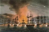 Thomas Whitcombe - The Bombardment of Algiers, 27th August 1816, from 'The Naval Achievements of Great Britain' by James Jenkins, engraved by Thoma