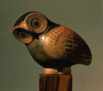 Greek School - Vase in the form of an owl, Proto-Corinthian, c.640 BC