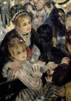 Pierre Auguste Renoir - Ball at the Moulin de la Galette, detail of two seated women, 1876  (detail of 36481 and 103302)