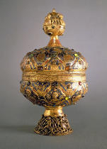 Anonymous - Ciborium, made in Limoges by G. Alpais for the Abbey at Montmajour, 13th century