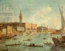 Francesco Guardi - The Doge's Palace and the Molo from the Basin of San Marco, Venice, c.1770