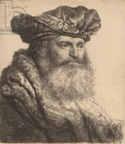Harmensz van Rijn Rembrandt - Bearded Man in a Velvet Cap with a Jewel Clasp, 1637