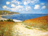 The Meadow Road to Pourville, 1882 von Claude Monet