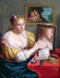 Paulus Moreelse - Girl with a Mirror, an Allegory of Profane Love, 1627
