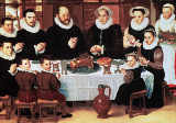 Anthuenis Claeissins - A Family Saying Grace Before the Meal, 1585