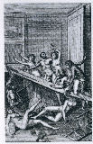An orgy, illustration from 'Histoire de Juliette' by the Marquis de Sade, 1797 of French School