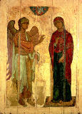 The Ustiug Annunciation, c.1130-40 of Novgorod School