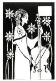 Lady with Cello, from 'Le Morte d'Arthur'` von Aubrey Beardsley
