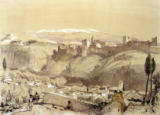 John Frederick nach Lewis - The Alhambra from the Albay, from 'Sketches and Drawings of the Alhambra', engraved by James Duffield Harding (1798-1863), 1835