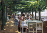 The Terrace at the Restaurant Jacob in Nienstedten on the Elbe, 1902 von Max Liebermann