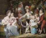 Daniel Gardner - Mrs Justinian Casamajor and Eight of her Children, 1779