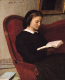 The Reader, 1861 von Ignace Henri Jean Fantin-Latour