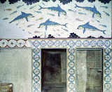 Minoan - The Dolphin Frescoes in the Queen's Bathroom, Palace of Minos, 1600-1400 BC