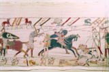French School - Here the French are Fighting and Killing Harold's Men, detail from the Bayeux Tapestry, before 1082