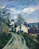 Doctor Gachet's house at Auvers, c.1873 von Paul Cézanne