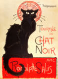 Poster advertising a tour of the Chat Noir Cabaret, 1896 von Theophile-Alexandre Steinlen