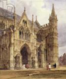 Thomas Shotter Boys - The North-West Porch of Salisbury Cathedral, 1832