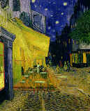 Cafe Terrace, Place du Forum, Arles, 1888 von Vincent van Gogh