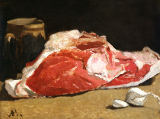 Claude Monet - Still Life, the Joint of Meat, 1864