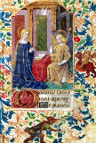 Jean nach Fouquet - Ms Latin 13305 fol.15 The Annunciation, from 'Heures a l'Usage de Rome', c.1465