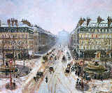 Avenue de l'Opera - Effect of Snow, 1898 von Camille Pissarro