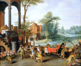 Jan Brueghel der Jüngere - A Satire of the Folly of Tulip Mania