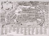 Italian School - Map of Naples, c.1600
