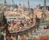French School - The Royal Entry Festival of Henri II (1519-59) into Rouen, 1st October 1550