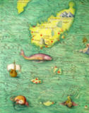 Battista Agnese - Iceland, from an Atlas of the World in 33 maps, Venice, 1st September 1553  (detail from 330951)